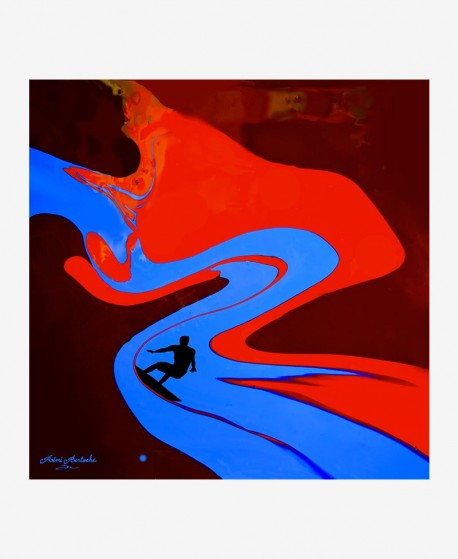Surf the painting remi bertoche
